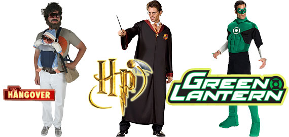 New Popular Men's Costumes for 2011: Go as ALAN from the HANGOVER, HARRY POTTER, the GREEN LANTERN, or choose one of your other favorites!